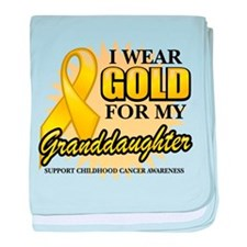 Gold For My Granddaughter baby blanket