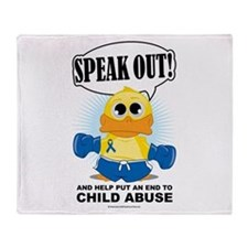 Boxing Duck Child Abuse Throw Blanket