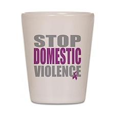 Stop Domestic Violence Shot Glass