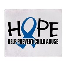 HOPE: Child Abuse Throw Blanket