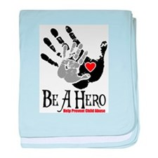Be A Hero baby blanket