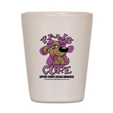 Paws For The Cure Crohn's Dis Shot Glass