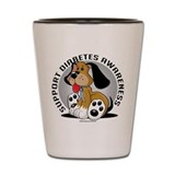 Diabetes Dog Shot Glass