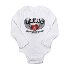 Diabetes Wings Long Sleeve Infant Bodysuit
