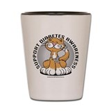 Diabetes Awareness Cat Shot Glass