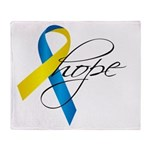 Down Syndrome Ribbon Hope Throw Blanket