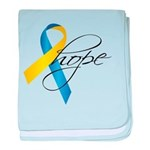 Down Syndrome Ribbon Hope baby blanket