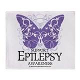 Epilepsy Butterfly Throw Blanket