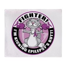 Epilepsy Cat Fighter Throw Blanket