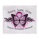 Fibromyalgia Butterfly Throw Blanket