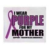 Fibromyalgia:Purple for Mothe Throw Blanket