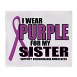 Fibromyalgia:Purple for Siste Throw Blanket