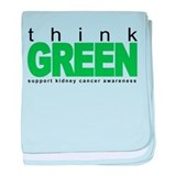 Think Green: Kidney Cancer baby blanket