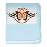 Leukemia Butterfly Orange baby blanket