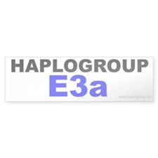 Haplogroup E3a Bumper Bumper Sticker