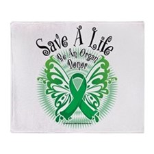 Organ Donor Save A Life Butte Throw Blanket