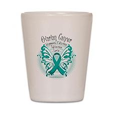 Ovarian Cancer Butterfly 2 Shot Glass