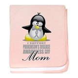Parkinson's Penguin for Mom baby blanket