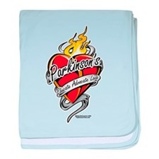 Parkinson's Tattoo Heart baby blanket