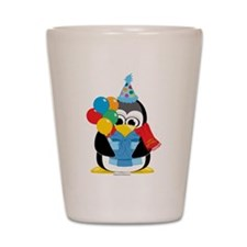 Birthday Penguin Scarf Shot Glass