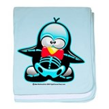 X-Ray Penguin baby blanket