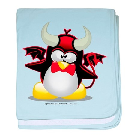 Devil Penguin baby blanket