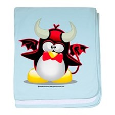 Devil Penguin baby blanket
