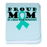 Tourette's Proud Mom baby blanket
