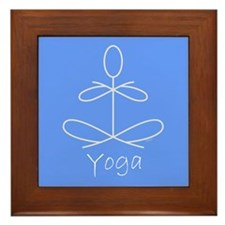 Yoga in Baby Blue Framed Tile