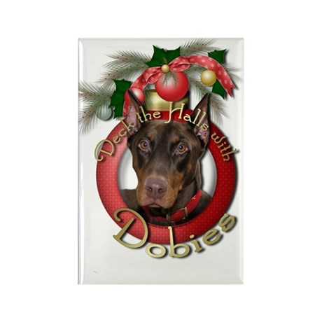 Christmas - Deck the Halls - Dobies Rectangle Magn
