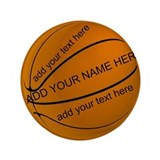 "Basketball 3.5"" Button"