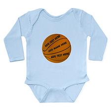 Basketball Long Sleeve Infant Bodysuit