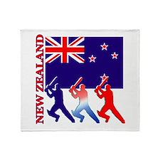 Cricket New Zealand Throw Blanket