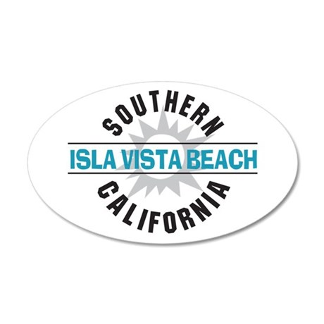 Isla Vista California 22x14 Oval Wall Peel