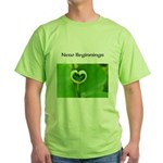 French Flavors, New Beginnings, Green T-Shirt