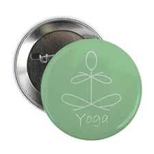 "Yoga Glee in Green 2.25"" Button"