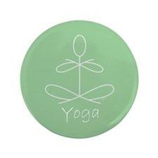 "Yoga Glee in Green 3.5"" Button"