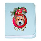 Christmas - Deck the Halls - Corgis baby blanket