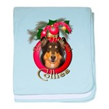 Christmas - Deck the Halls - Collies baby blanket