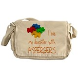 Asperger's daughter Messenger Bag