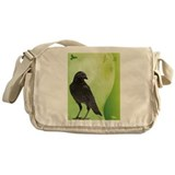 Green Crow Messenger Bag