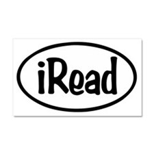 iRead Oval Car Magnet 20 x 12