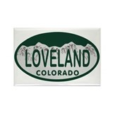 Loveland Colo License Plate Rectangle Magnet