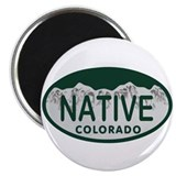 Native Colo License Plate Magnet