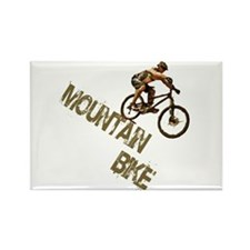Mountain Bike Downhill Rectangle Magnet