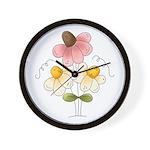 Pretty Daisies Wall Clock