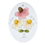 Pretty Daisies Ornament (Oval)