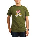Pretty Daisies Organic Men's T-Shirt (dark)