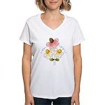 Pretty Daisies Women's V-Neck T-Shirt