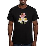 Pretty Daisies Men's Fitted T-Shirt (dark)